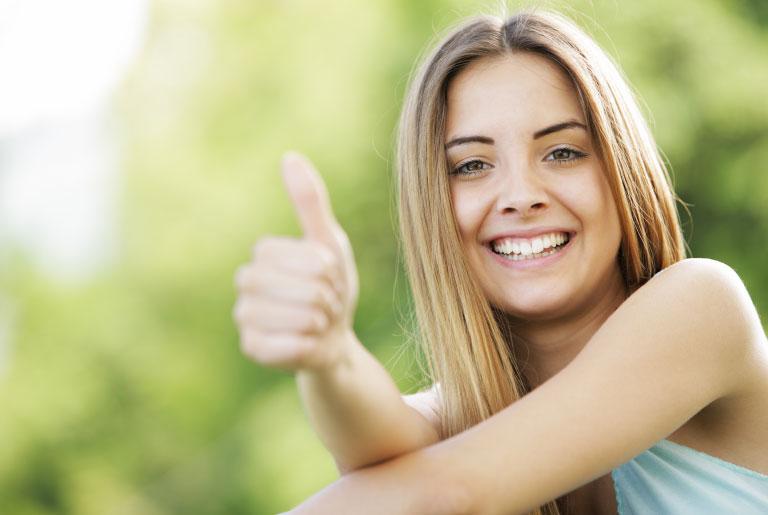 Teeth Whitening - Happy woman