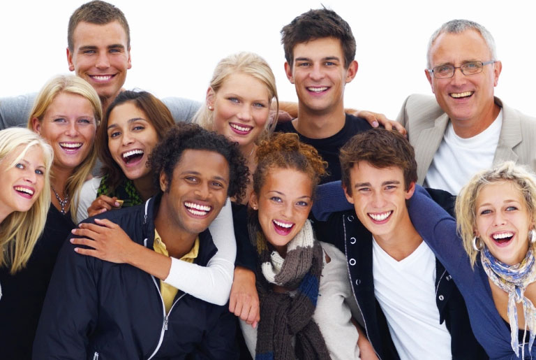 Teeth Whitening - Group of people smiling