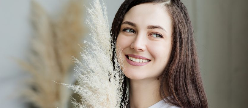 Happy Girl with Teeth Whitetning Treatment
